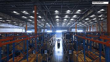 物流巨头3PL仓库中的高举升AGV叉车应用案例
