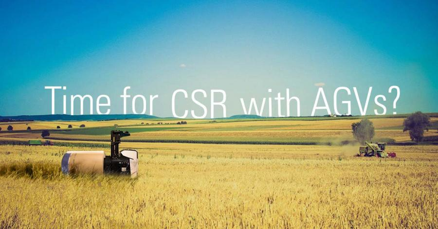 AGVs contribute to improving CSR (Corporate Social Responsibility)